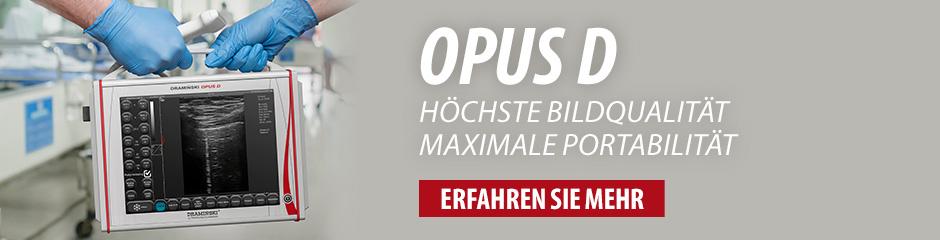 DRAMINSKI OPUS D – Ultraschallgerät mit hervorragenden Parametern und mit Dopplerfunktion. Prüfen Sie es!