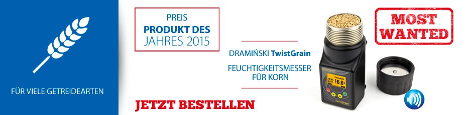 DRAMINSKI TwistGrain – Feuchtigkeitsmesser im ergonomischen Gehäuse, der eine präzise Messung sichert. Prüfen Sie es!