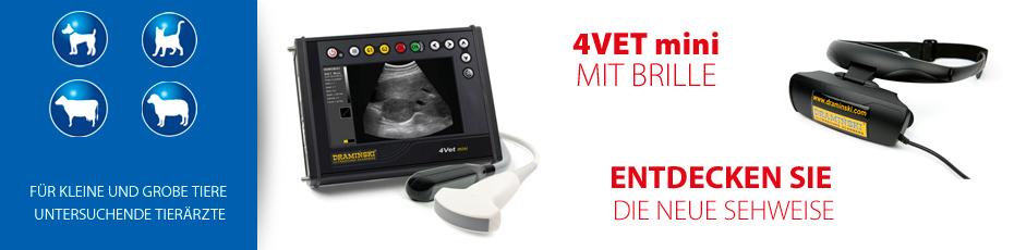 Ultraschallgeräte für Veterinärmedizin mit Brille