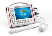 DRAMINSKI Fast portables, sehr robustes Ultraschallgerät für mobile Ärzte. Zur schnellen Diagnostik der in der Bauchhöhle und im Becken liegenden Organe.
