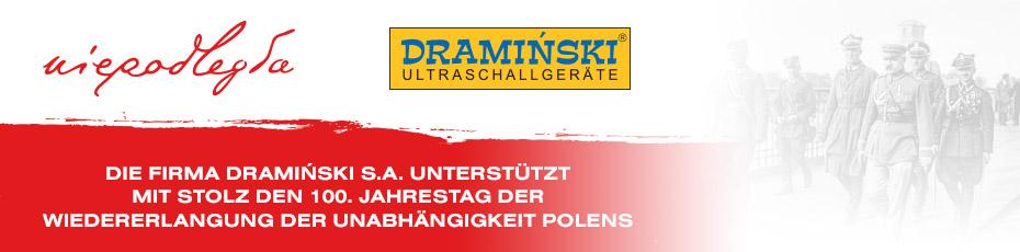 Die Firma Dramiński S.A. unterstützt mit Stolz den 100. Jahrestag  der Wiedererlangung der Unabhängigkeit Polens