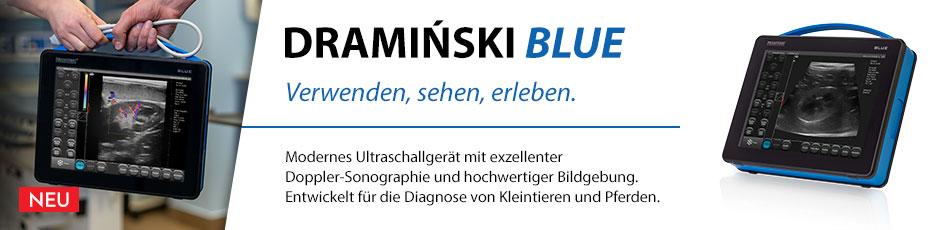 DRAMIŃSKI BLUE ist veterinärmedizinisches Ultraschallgerät, das mit einem detaillierten Bild überrascht.