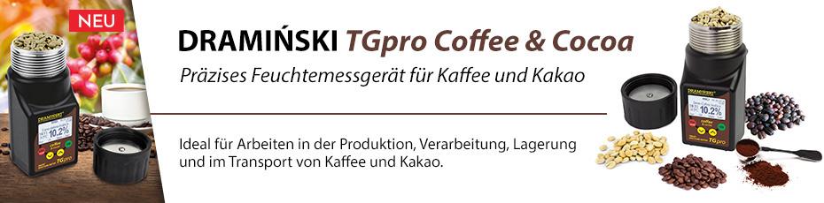 Präzises Feuchtemessgerät für Kaffee und Kakao mit Kompression der Probe.