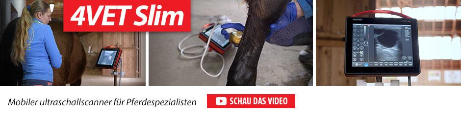 4vet slim Mobiler Ultraschallscanner für Pferdespezialisten