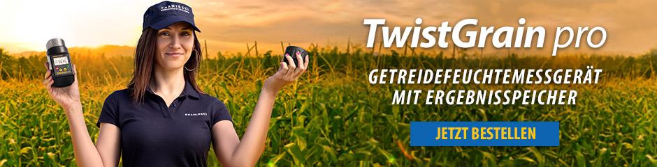 Twistgrain pro Getreidefeuchtemessgerät mit Ergebnisspeicher